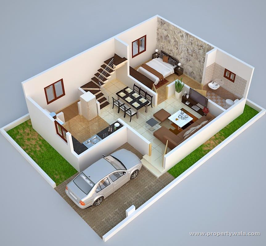 Home Design Ideas 3d: 5 Bed Room House In 2 Cent Land