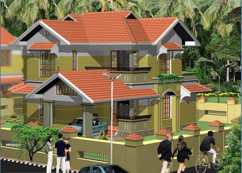2013 Square Feet 3 Bedroom Kerala Home Design With Plan