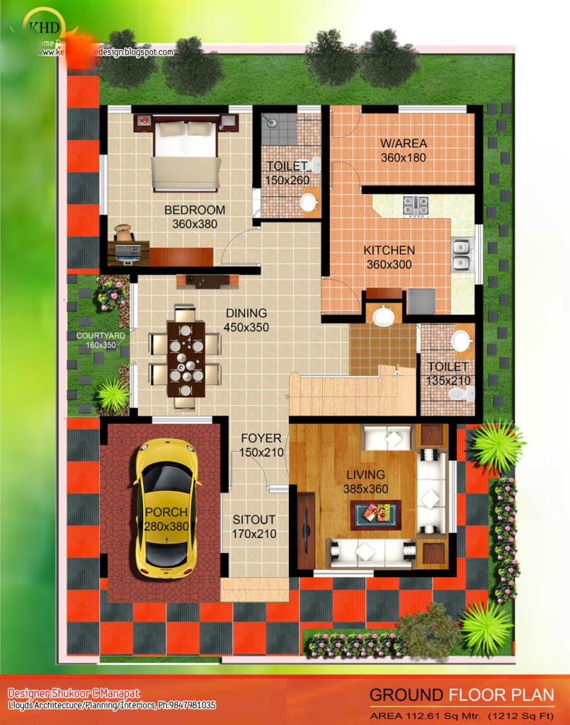 2035 square feet 4 bedroom contemporary home design and for Modern four bedroom house plans