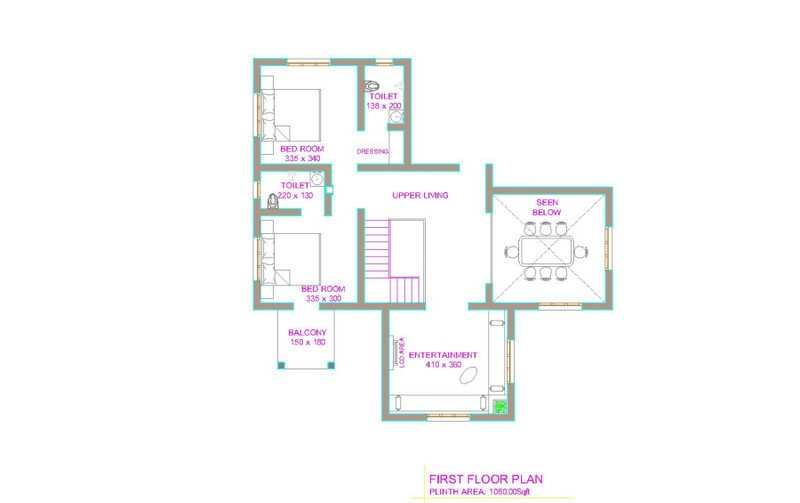 2800 square feet 4 bedroom kerala house design and plan for Kerala 3d home floor plans