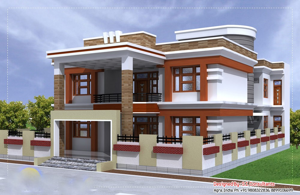 3350 square feet 5 bedroom luxury double floor home design for 5 bedroom luxury house plans