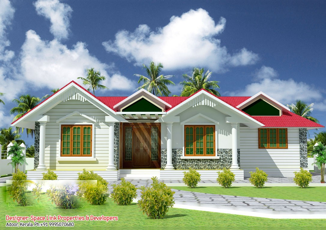 1070 Square Feet 3 Bedroom Beautiful single Floor Home Design and Plan