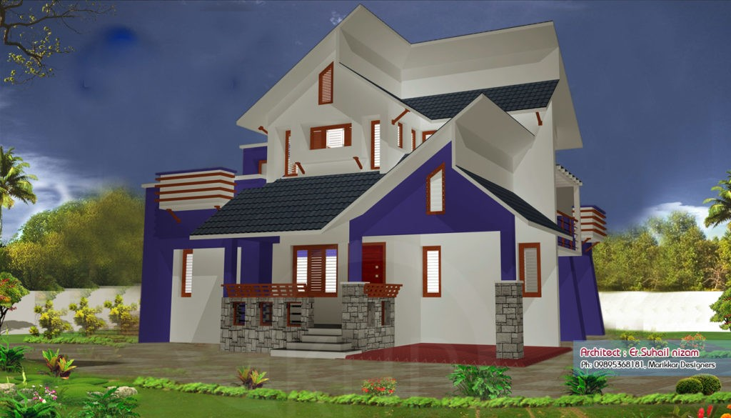 1250 Square Feet 2 Bedroom Low Budget Home Design and Elevation