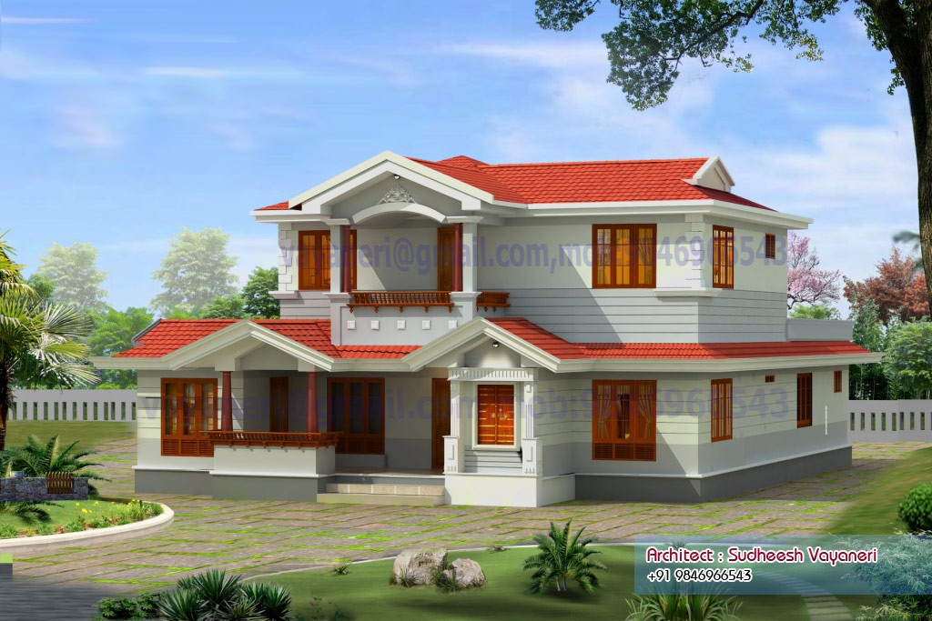 2497 square feet 4 bedroom double floor beautiful home for Home designs double floor