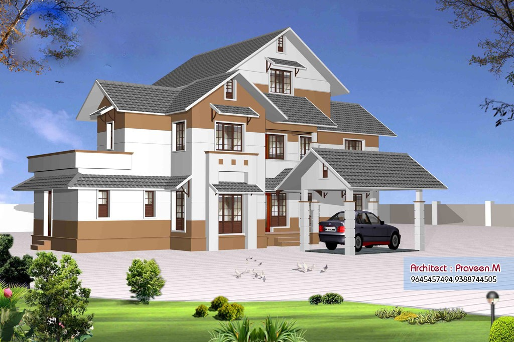 2906 Square Feet 4 Bedroom Kerala Home Design and Plan