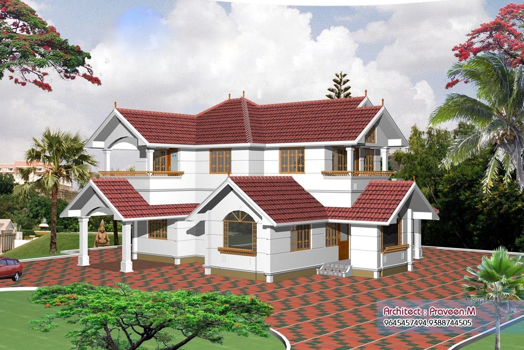 3046 Square Feet 5 Attached Bedroom Luxury Home Design and Elevation