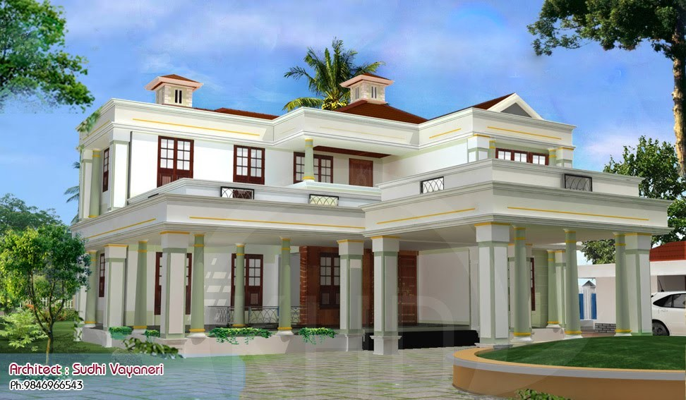 3317 Square Feet 4 Attached Bedroom Luxury Home Design and Plan