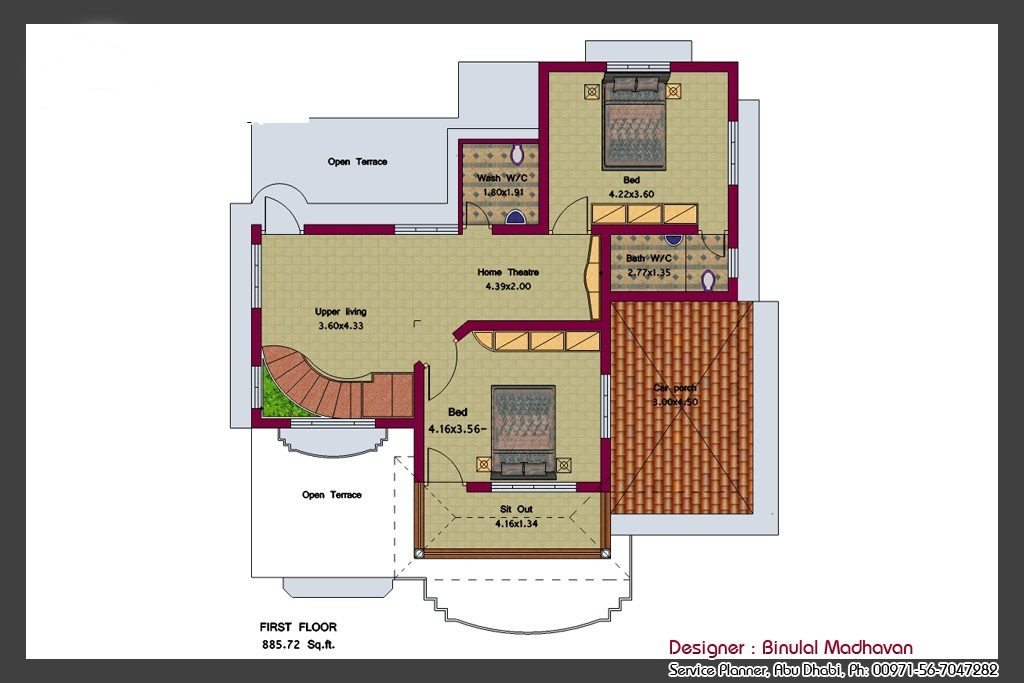 2292 Square Feet 4 Bedroom Amazing Kerala Home Design and Plan
