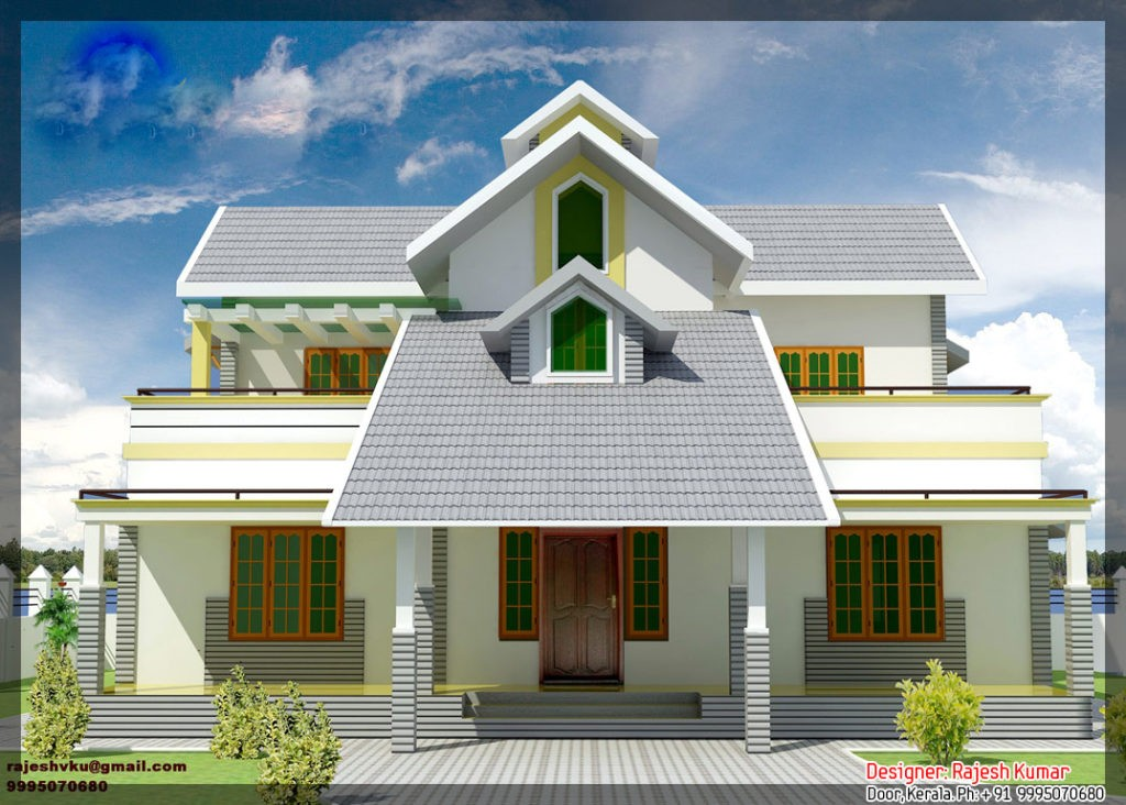 2300 Square Feet 5 Bedroom Beautiful Kerala Home Design