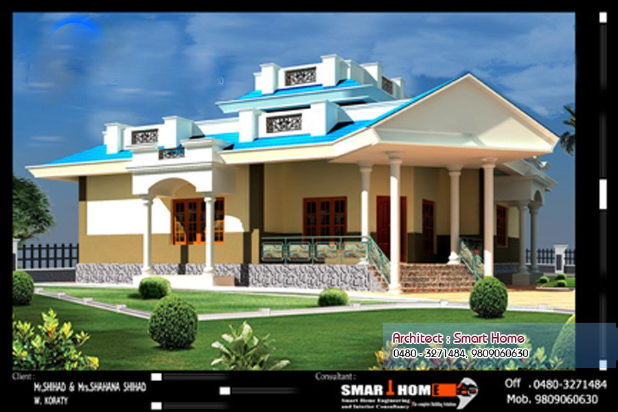 Single Floor Elevation Jobs : Square feet bedroom single floor kerala home design