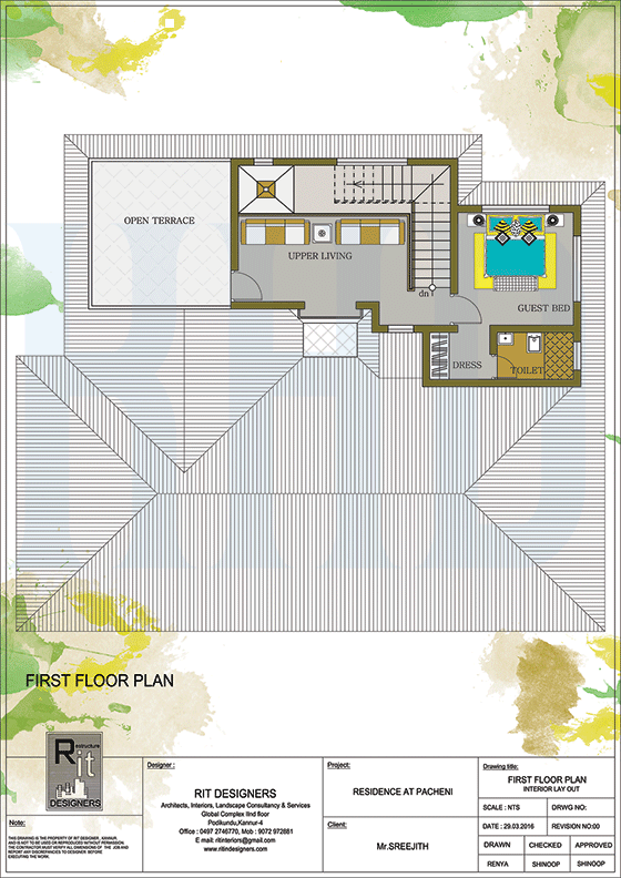 3065 Square Feet 4 Bedroom Luxury Kerala Home Design With Plan