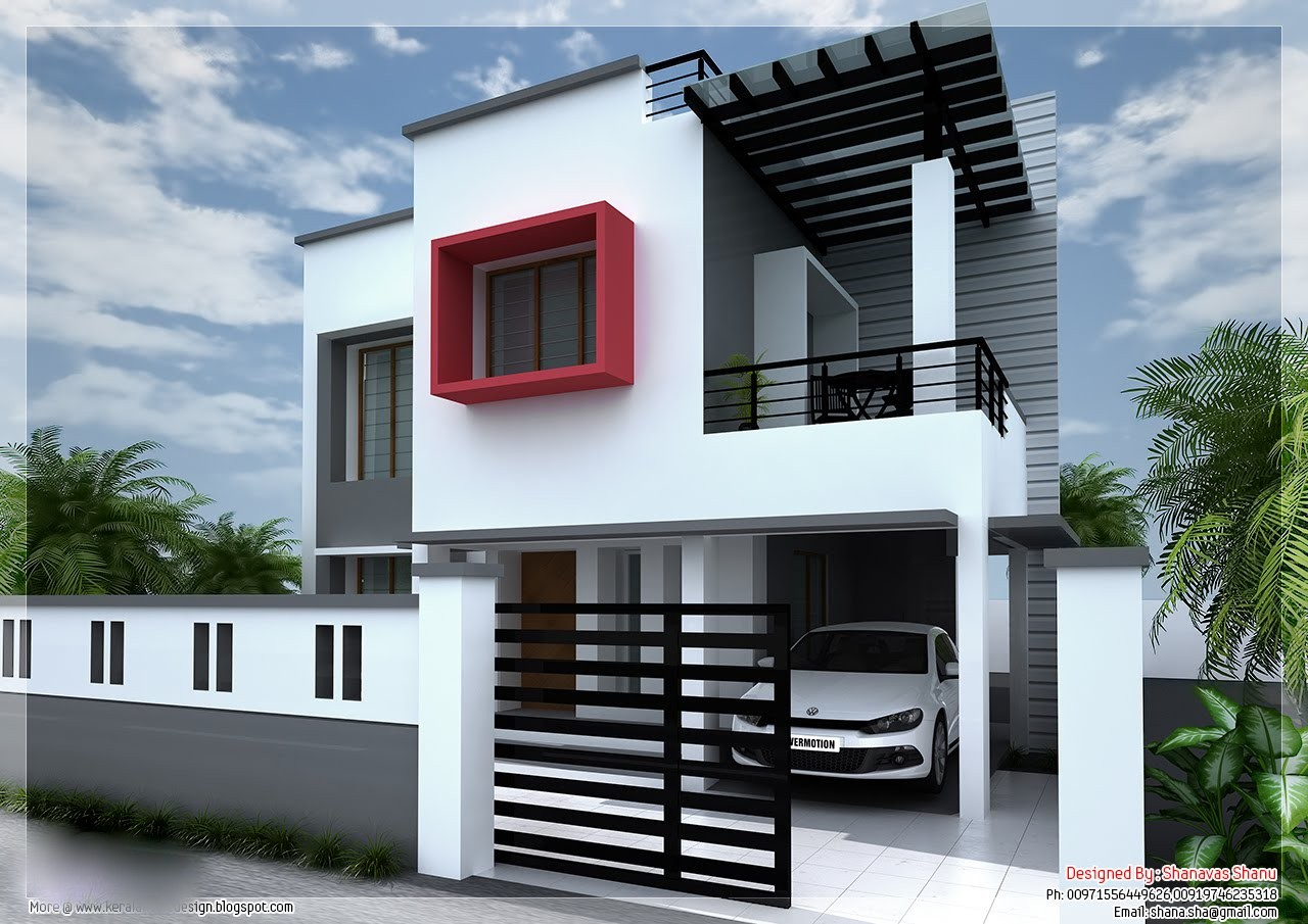 1800 Square Feet Modern Contemporary 3 Bedroom Home Design and Plan