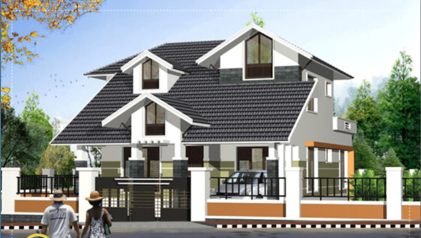 2125 Square Feet 4 Attached Bedroom Contemporary Style Home Design And Plan