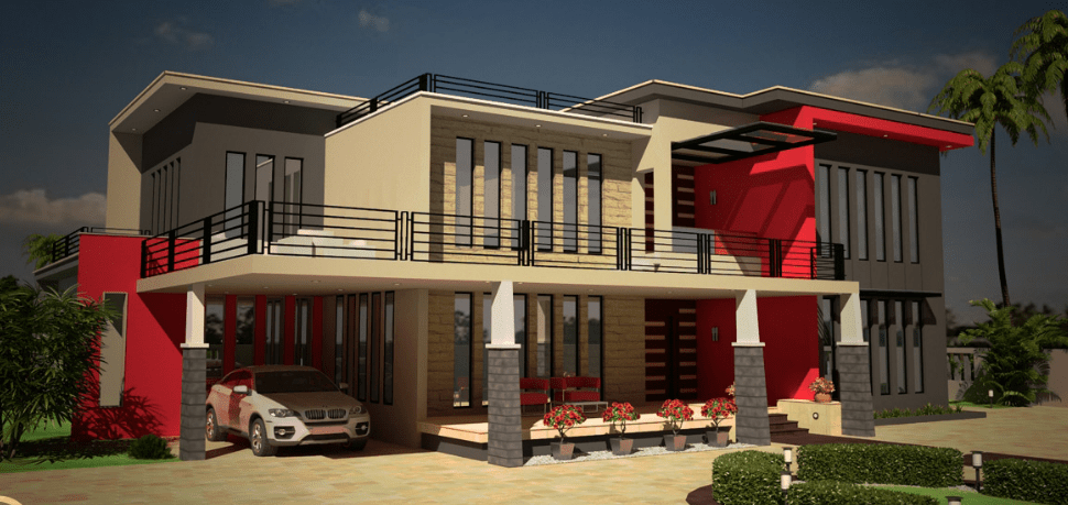 3800 Square Feet Contemporary House Beautiful Luxury Home with floor plan