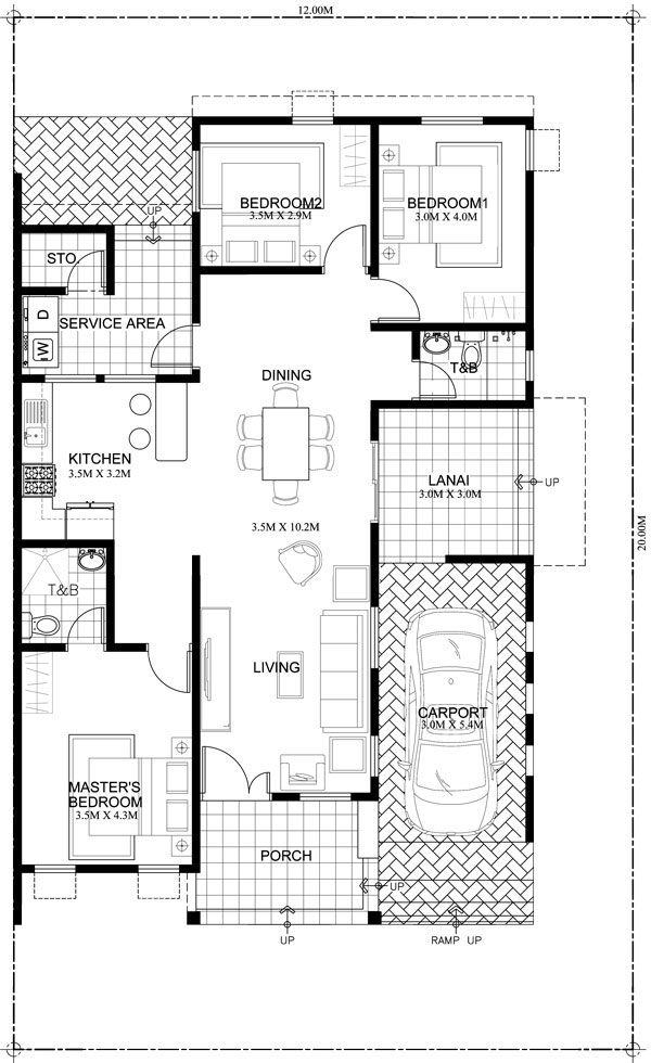 1100 Square Feet 3 Bedroom New Modern Low Budget Home Design and Plan