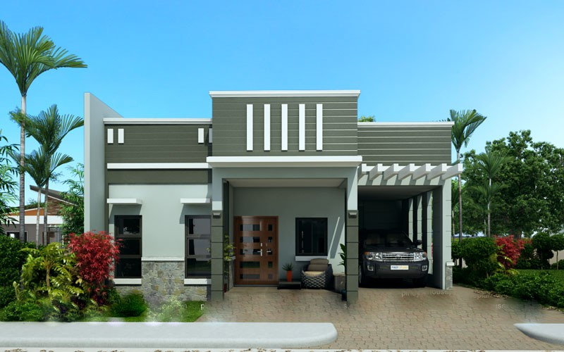 1100 square feet 3 bedroom new modern low budget home for Low budget modern 3 bedroom house design