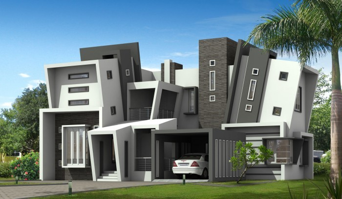 2768 Square Feet 4 Bedroom Contemporary Home Design and Elevation
