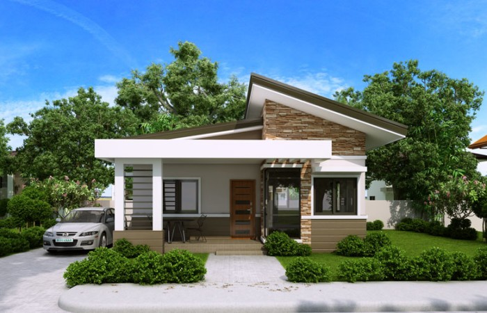 950 square feet 2 bedroom low budget contemporary home design and plan