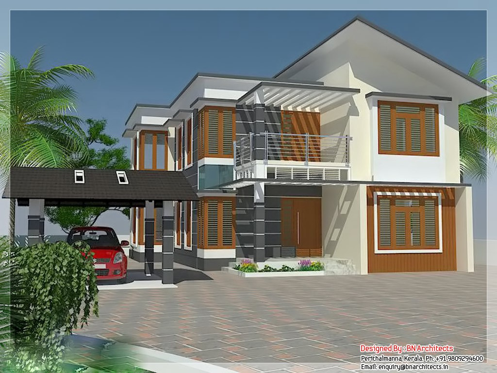 2231 Square Feet 4 Bedroom Luxury Home Design and Elevation