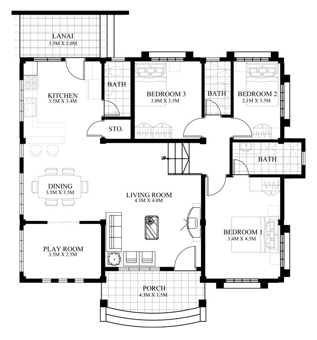 1500 Square Feet 3 Bedroom New Modern House Design and Elevation