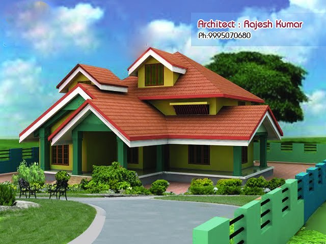 1750 Square Feet 4 Bedroom Double Floor Home Design and Plan