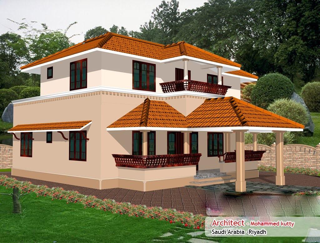1936 Square Feet 4 Bedroom Kerala Traditional Home Design
