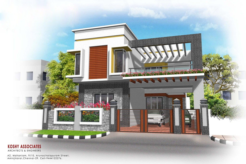 Double Floor Front Elevation : Square feet bedroom double floor kerala style