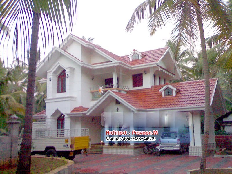 2001 Square Feet 3 Bedroom Colonial Kerala Home Design and Plan