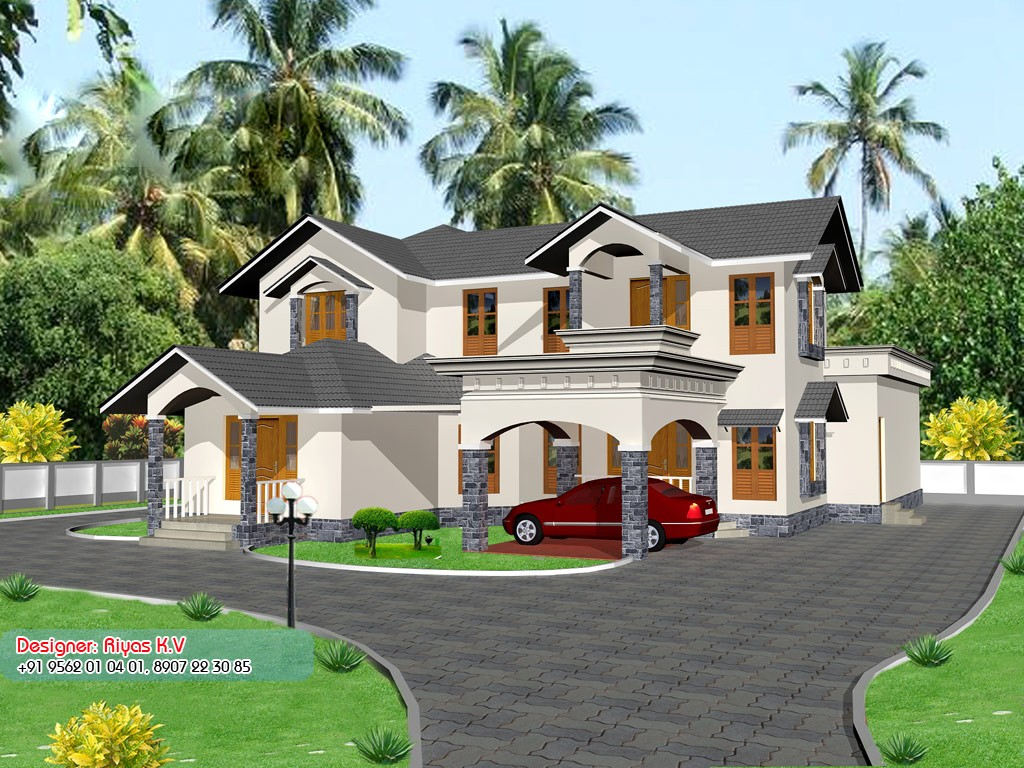 2850 Square Feet 4 Attached Bedroom Beautiful Home Design and Plan