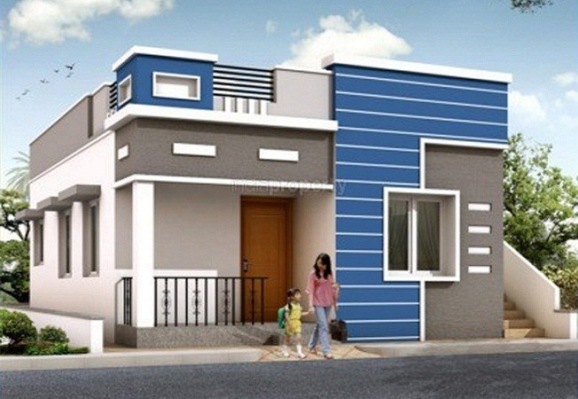 Low cost 631 square feet kerala single storied homes for Low cost house plans in kerala with images