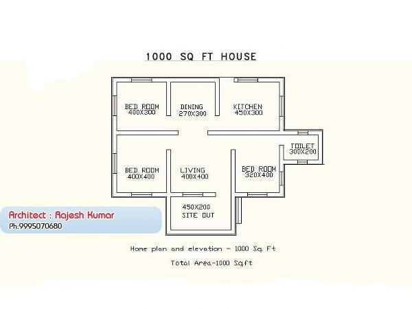 Modern Kerala House Design 2016 At 2980 Sq Ft: 1000 Square Feet 3 Bedroom Low Budget Kerala Home Design