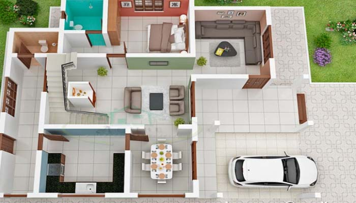 850 Square Feet Single Attached Bedroom Home Design and Plan - Home ...