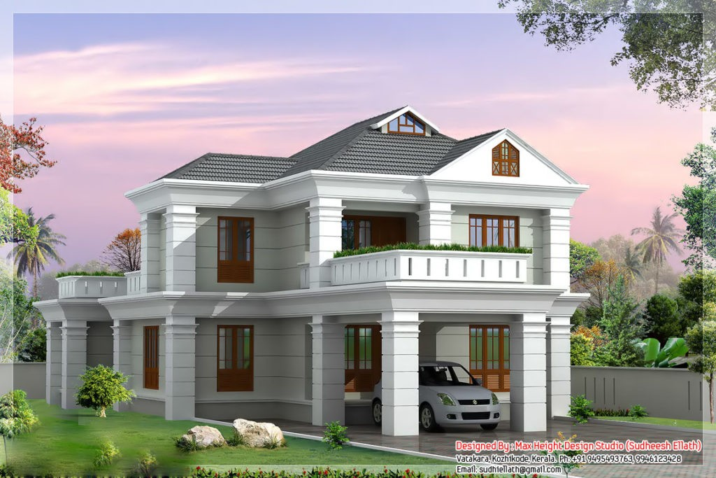 2336 Square Feet 4 Bedroom Double Floor Beautiful Home Design And Plan