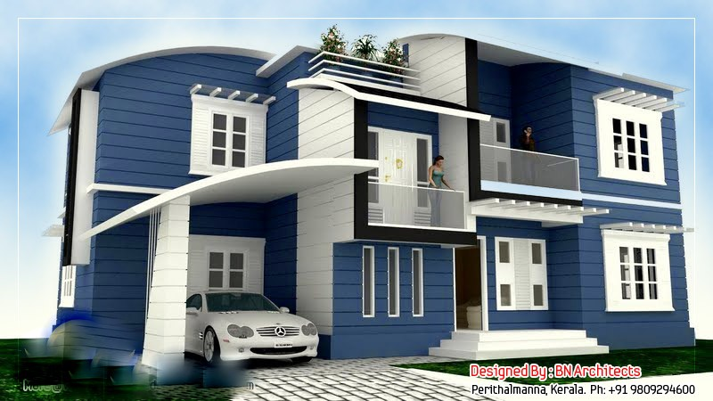 2492 Square Feet 4 Attached Bedroom Double Floor Home Design and Elevation