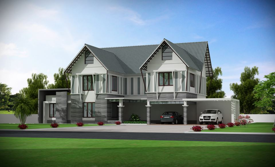 6708 square feet 9 bedroom double floor luxury home design and