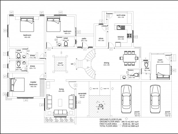 6708 Square Feet 9 Bedroom Double Floor Luxury Home Design and Elevation