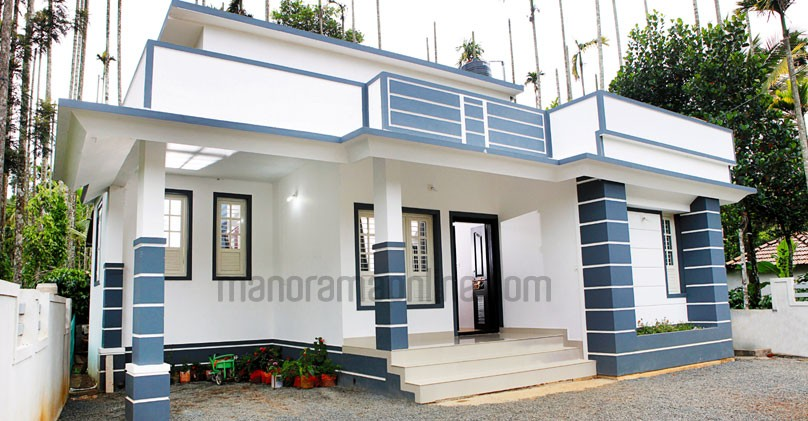 730 Square Feet Single Bedroom Kerala Home Design At 4.5 Cent..Cost For 8