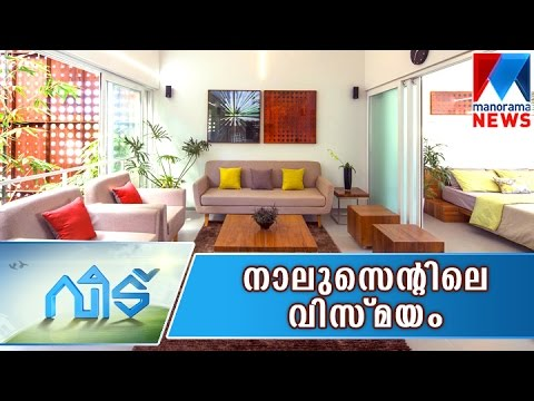 2200 Square Feet Low Budget Kerala style Contemporary Home Design at 4 Cent Land