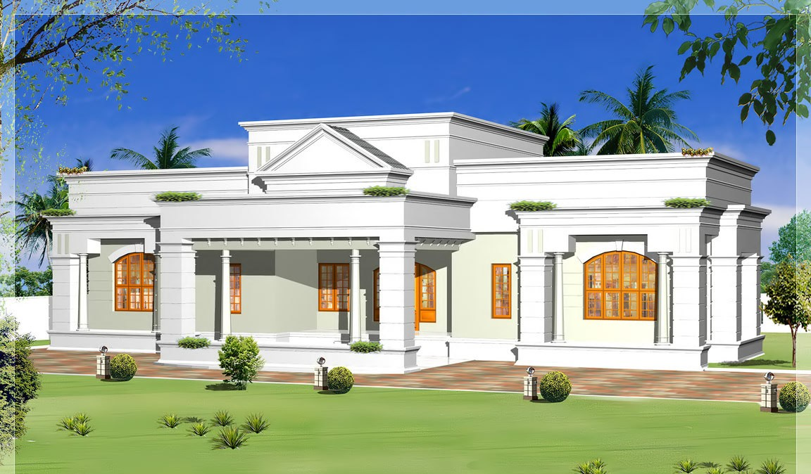 2700 Square Feet Single Floor 3 Attached Bedroom Home Design and Plan