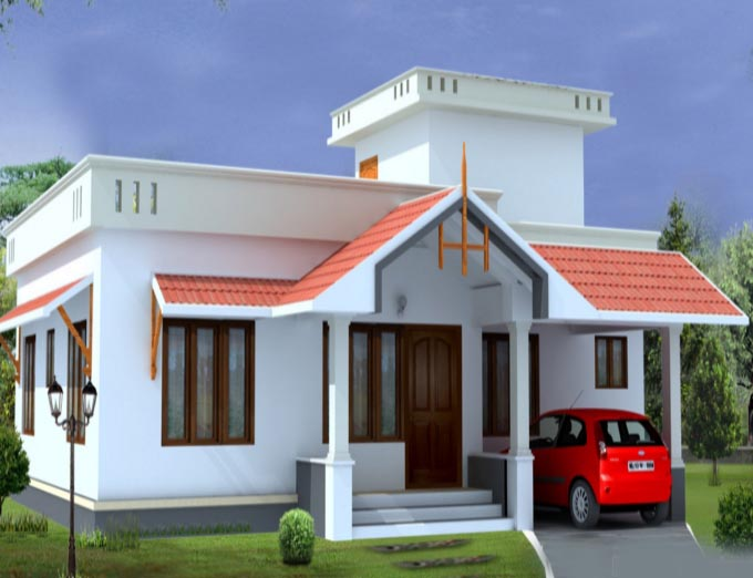 1000 square feet 2 bedroom kerala low budget home design Low budget house plans