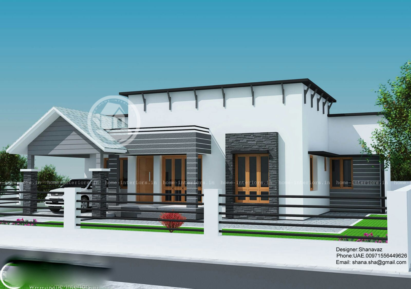 1300 Square Feet 3 Bedroom Single Floor Contemporary Home Design And 3D  Plan   Home Pictures :: Easy Tips