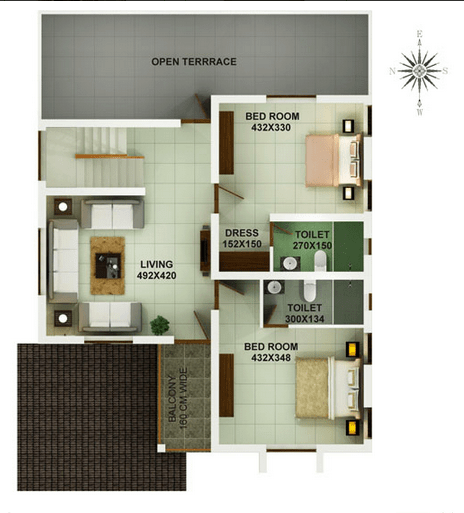 2400 Square Feet 4 Bedroom Double Floor Home Design and 3D Plan