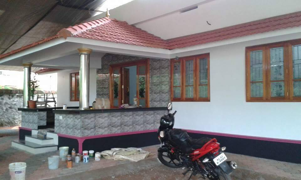 1300 square feet 3 bedroom kerala style single floor low for Low to floor single bed