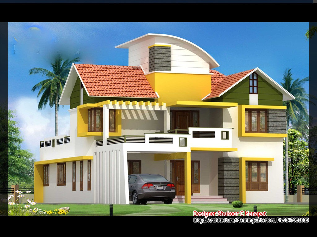 2563 square feet 4 bedroom contemporary and kerala style for 4 bedroom house plans kerala style architect