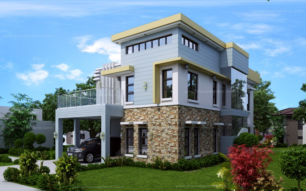 2800 Square Feet 5 Bedroom Contemporary Home Design And