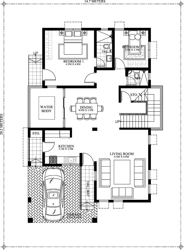 2800 Square Feet 5 Bedroom Contemporary Home Design and Elevation ...