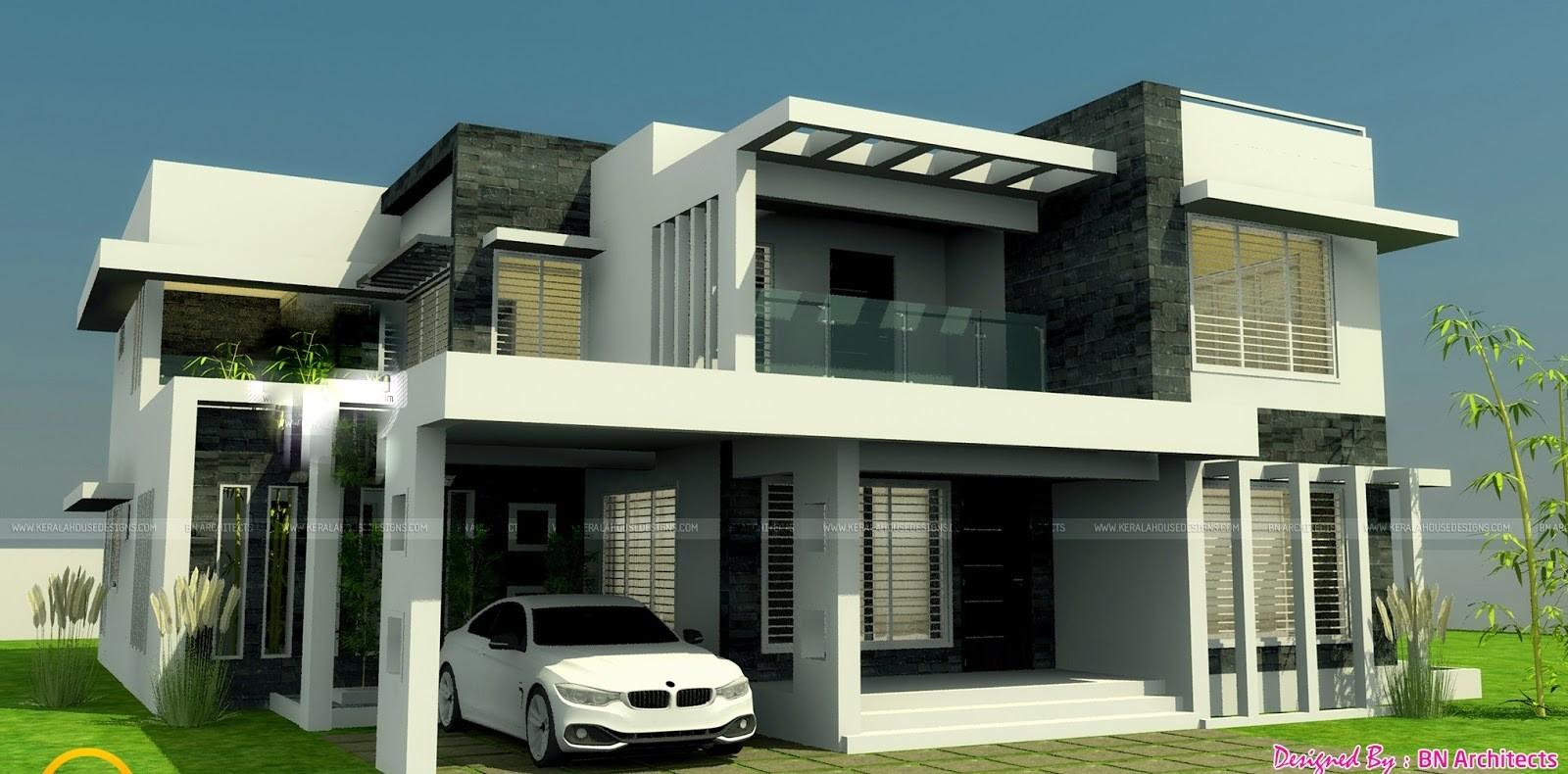 2800 Square Feet 4 Bedroom New Modern Home Design and Elevation