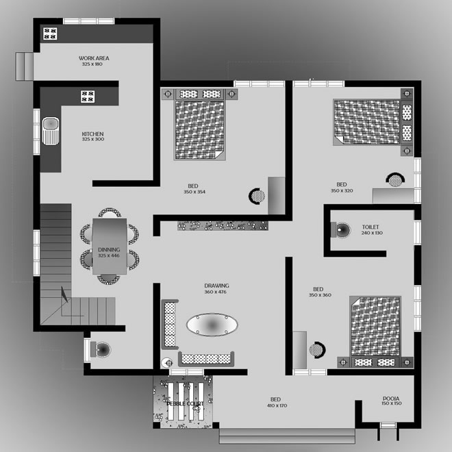 1500 Square Feet 3 Bedroom Low Budget Home Design And Plan Home Pictures