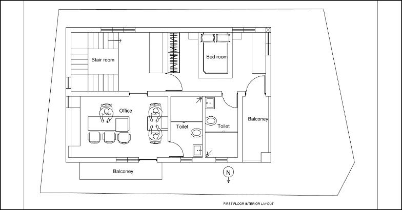 1300 Square Feet 2 Bedroom Two Story Low Budget Home Design at 2.5 ...