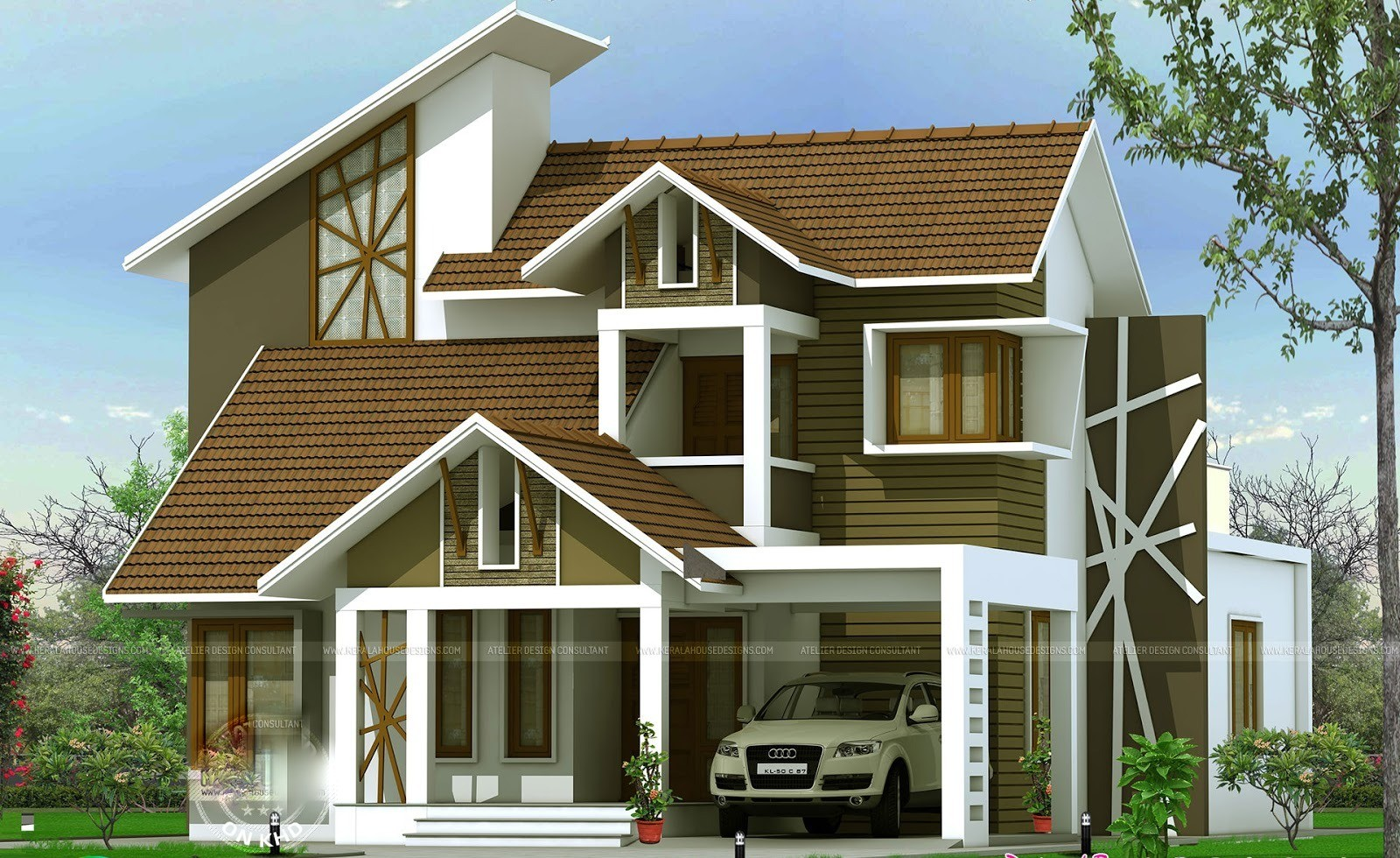 2380 Square Feet 4 Bedroom Two Story Amazing Contemporary Home Design and Elevation